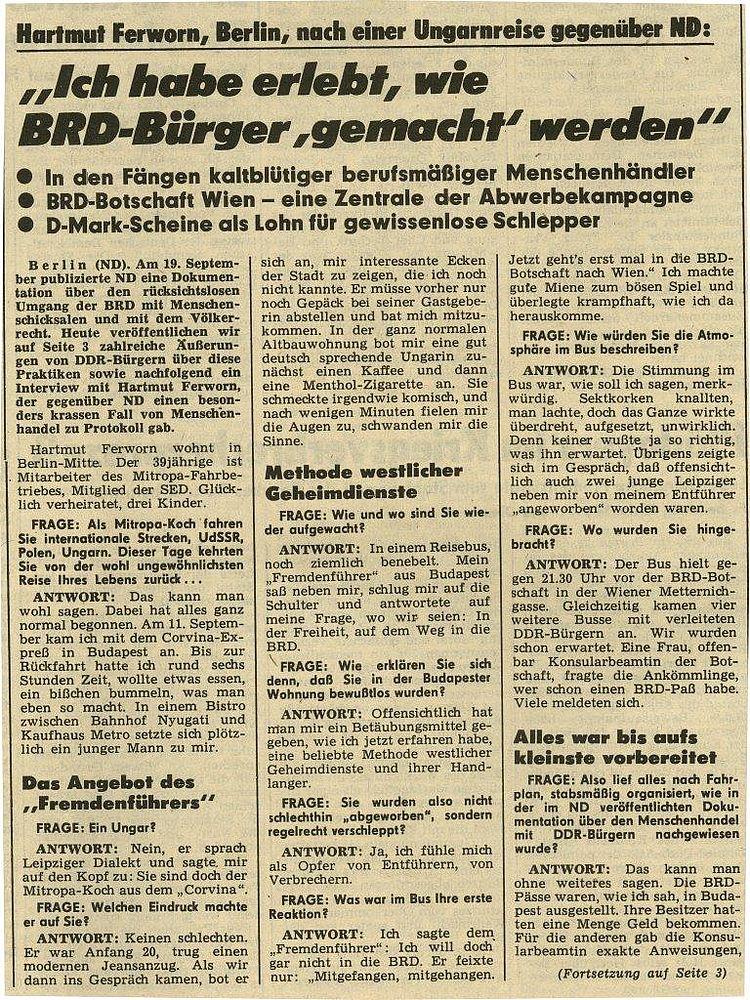 sopron hongrie 1989 page de presse