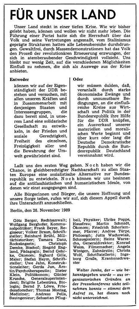 hoffnungen wiedervereinigung deutschland